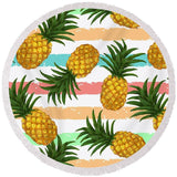 Pineapple Party Round Beach Towel-Round Beach Towel-Adult: 150 cm diameter-Australian Coastal Passion