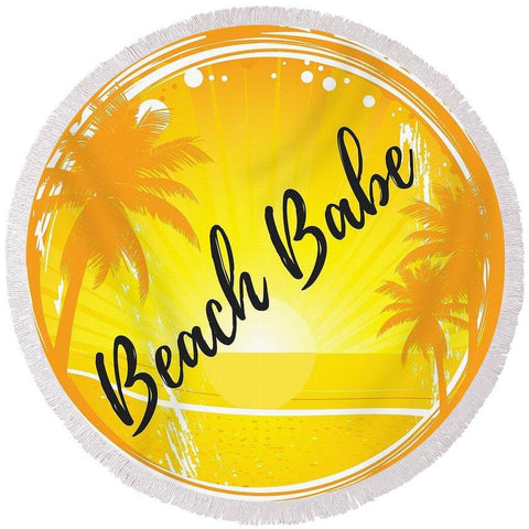 The Beach Babe Round Beach Towel-Round Beach Towel-Adult: 150 cm diameter-Australian Coastal Passion