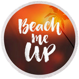 Beach Me Up Round Beach Towel-Round Beach Towel-Adult: 150 cm diameter-Australian Coastal Passion