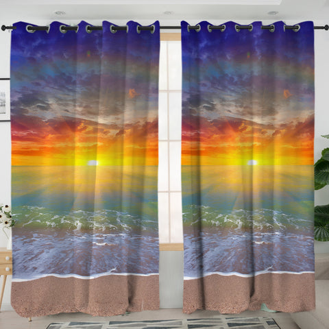 Sunset Beach Curtains