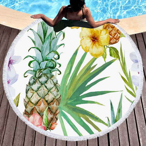 Sweet Caribbean Gold Round Beach Towel-Round Beach Towel-Australian Coastal Passion