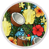 Cayo Coco Round Beach Towel-Round Beach Towel-Adult: 150 cm diameter-Australian Coastal Passion