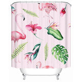 Flamingo and Hibiscus Shower Curtain-Shower Curtain-Australian Coastal Passion