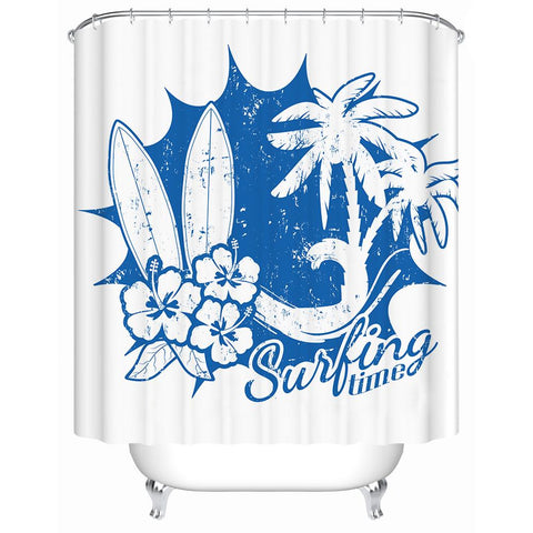Surfing Time Shower Curtain-Shower Curtain-Australian Coastal Passion