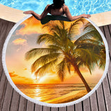 Barbados Round Beach Towel-Round Beach Towel-Australian Coastal Passion