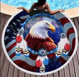 Wild Spirit Round Beach Towel Collection-Round Beach Towel-Adult: 150 cm diameter-Wild Spirit 13-Australian Coastal Passion