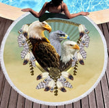 Wild Spirit Round Beach Towel Collection-Round Beach Towel-Adult: 150 cm diameter-Wild Spirit 14-Australian Coastal Passion