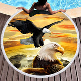 Wild Spirit Round Beach Towel Collection-Round Beach Towel-Adult: 150 cm diameter-Wild Spirit 15-Australian Coastal Passion