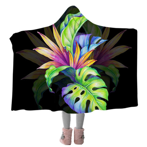Trop Love Cozy Hooded Blanket-Coastal Passion
