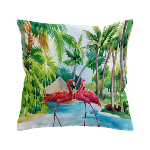Flamingo Paradise Cushion Cover-🇦🇺 Australian Coastal Passion