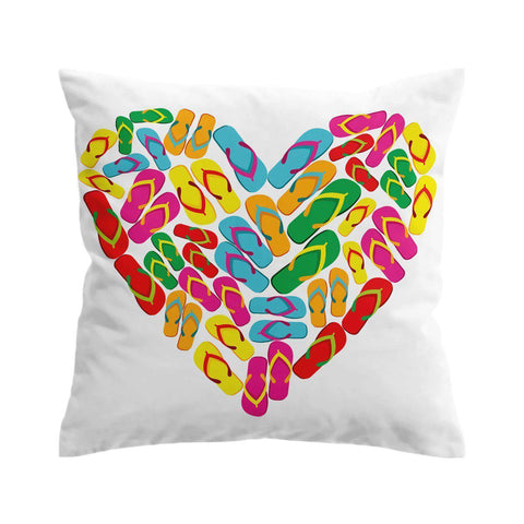 Flip Flops in My Heart Cushion Cover-🇦🇺 Australian Coastal Passion