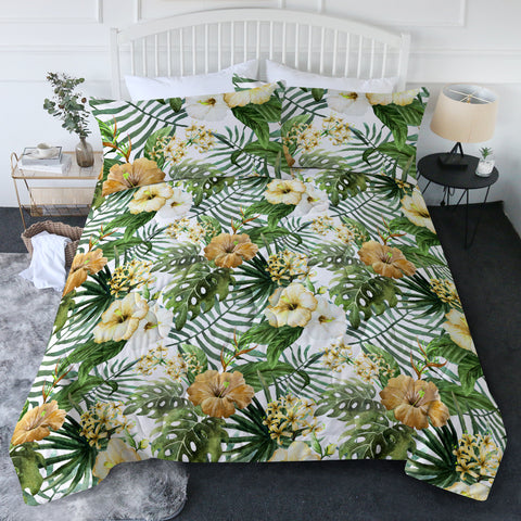 Hibiscus Tropics New Quilt Set