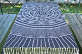 Coastal -Navy Blue Sun 100% Cotton Towel-Coastal Passion