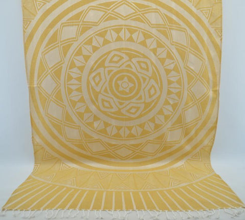 Coastal -Yellow Sun 100% Cotton Towel-Coastal Passion
