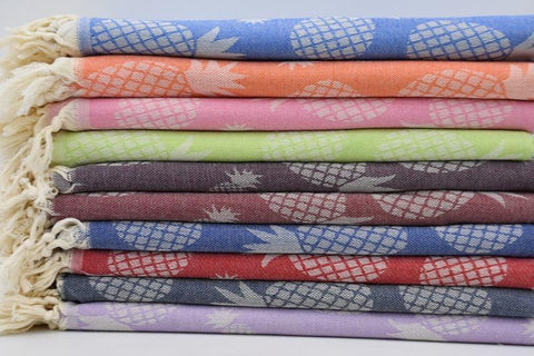 Coastal -Pineapple Party Series 100% Cotton Towels-Coastal Passion
