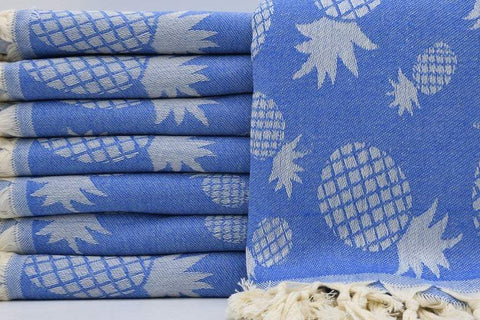 Coastal -Pineapple Blue 100% Cotton Towel-Coastal Passion