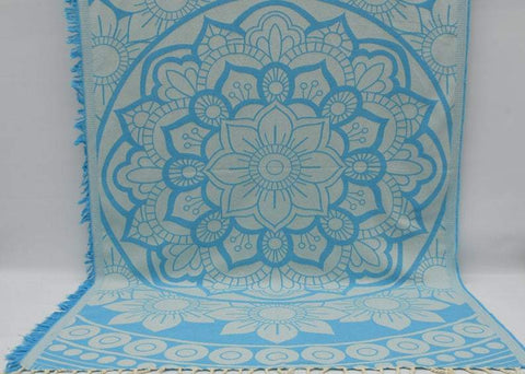Coastal -Turquoise Mandala 100% Cotton Towel-Coastal Passion