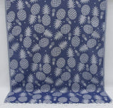 Coastal -Pineapple Navy Blue 100% Cotton Towel-Coastal Passion