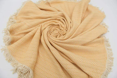 Coastal -Peach Yellow 100% Cotton Round Beach Towel-Coastal Passion