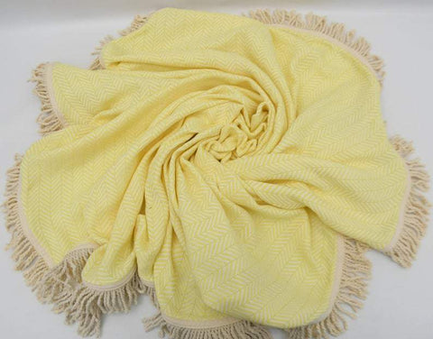 Coastal -Yellow 100% Cotton Round Beach Towel-Coastal Passion