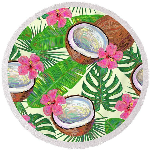 Kokos Round Beach Towel-Round Beach Towel-Adult: 150 cm diameter-Australian Coastal Passion