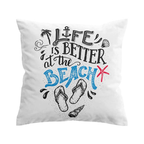 Life is Better at the Beach Cushion Cover-🇦🇺 Australian Coastal Passion