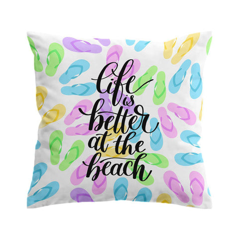 Life is Better in Flip Flops Cushion Cover-🇦🇺 Australian Coastal Passion