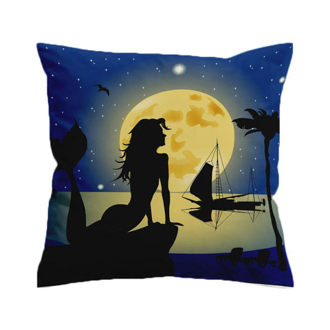 Moonlight Mermaid Cushion Cover-🇦🇺 Australian Coastal Passion