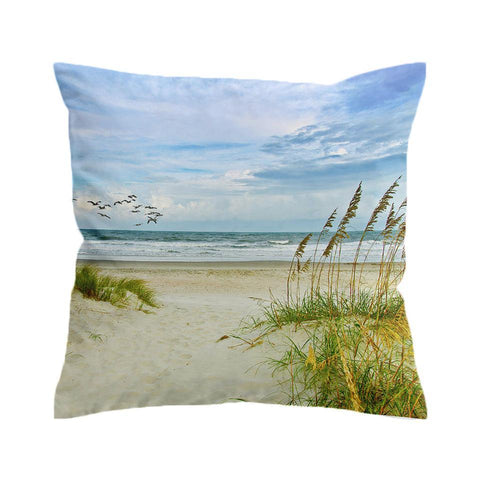My Happy Place Beach Painting Cushion Cover-🇦🇺 Australian Coastal Passion
