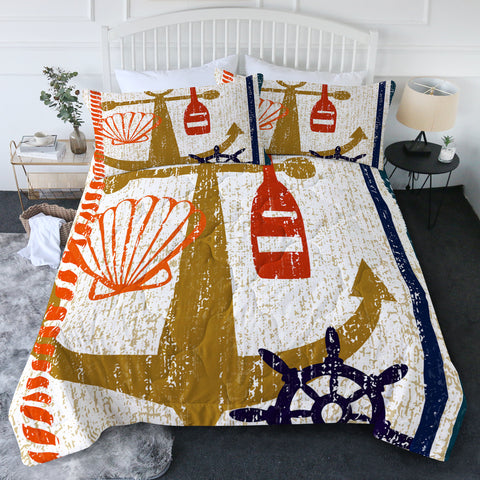 Beachy Anchor New Quilt Set