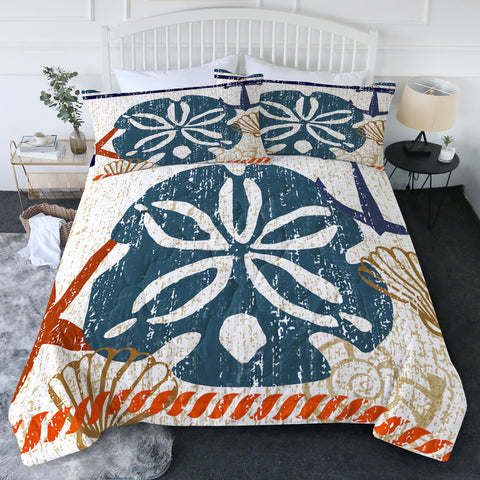 Beachy Sand Dollar New Quilt Set