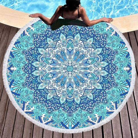 Pandawa Beach Round Towel-Round Beach Towel-Adult: 150 cm diameter-Australian Coastal Passion