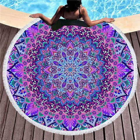 Cosmic Bohemian Round Towel-Round Beach Towel-Adult: 150 cm diameter-Australian Coastal Passion