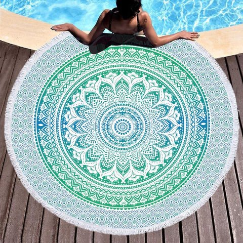 Seminyak Beach Round Towel-Round Beach Towel-Adult: 150 cm diameter-Australian Coastal Passion