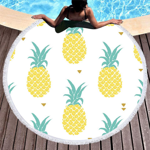 Be A Pineapple Round Beach Towel-Round Beach Towel-Adult: 150 cm diameter-Australian Coastal Passion