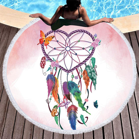 Catch A Dream Fun Beach Towel-Round Beach Towel-Adult: 150 cm diameter-Australian Coastal Passion