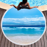 Beach Please Round Beach Towel Collection-Round Beach Towel-Peace of the Beach-Adult: 150 cm diameter-Australian Coastal Passion