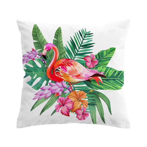 Pink Flamingo Pillow Cover Set-Pillow Cover-Australian Coastal Passion
