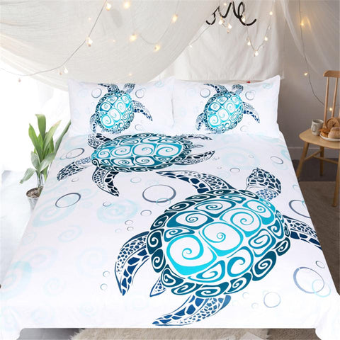 The Sea Turtle Twist Doona Cover Set-Doona Quilt Cover Set-Australian Coastal Passion