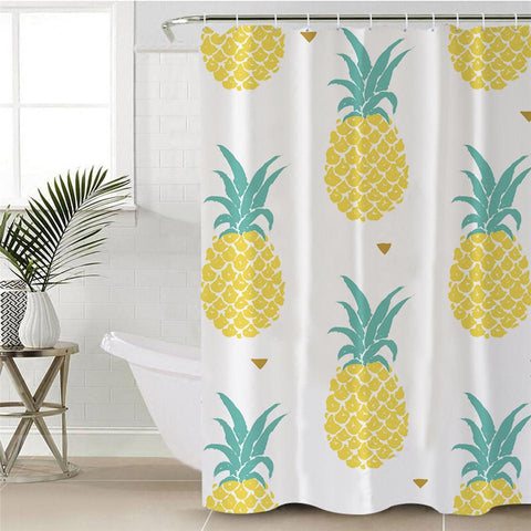 Love Pineapple Shower Curtain-Shower Curtain-Australian Coastal Passion