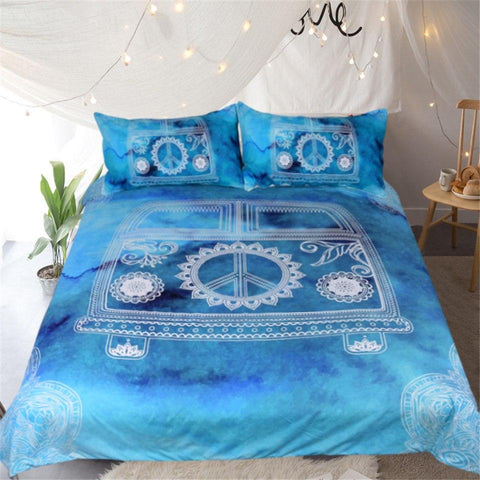 The Beach Bus Doona Cover Set-Doona Quilt Cover Set-Australian Coastal Passion