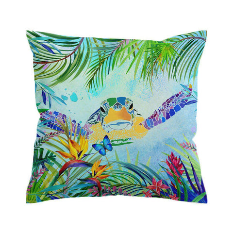 Sea Turtle and Butterfly Cushion Cover-🇦🇺 Australian Coastal Passion