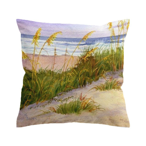 Seagrass Beach Painting 1 Cushion Cover-🇦🇺 Australian Coastal Passion