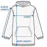 Coastal Mosaic Wearable Blanket Hoodie-Coastal Passion