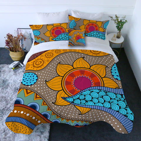 Sea, Sand & Sunflowers Quilt Set