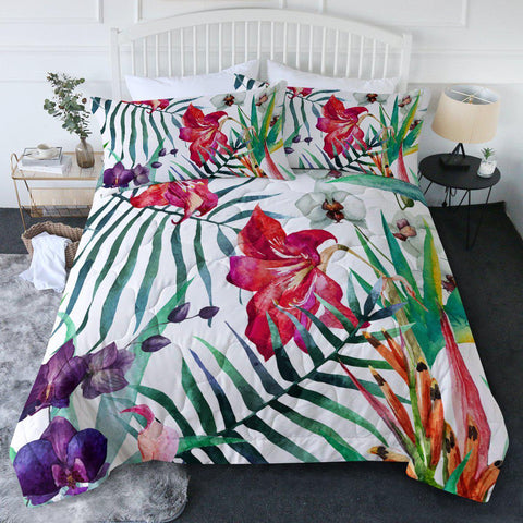 Tropical Floral New Quilt Set-🇦🇺 Australian Coastal Passion