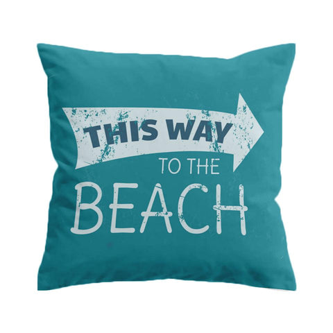 This Way to the Beach Cushion Cover-🇦🇺 Australian Coastal Passion