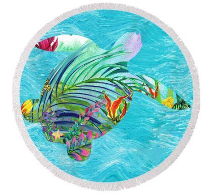 Tropical Bay Round Beach Towel-Australian Coastal Passion
