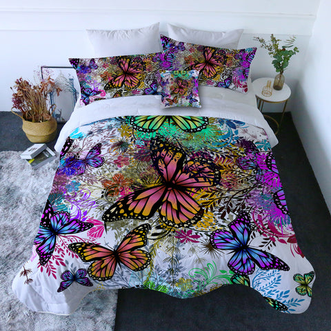 Tropical Butterflies Quilt Set