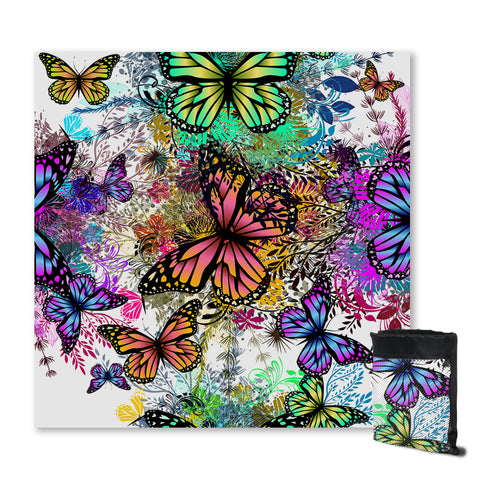 Tropical Butterflies Sand Free Towel